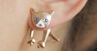 earrings for girls 2016 newest female girls cute enemal rhinestone dog stud earrings ear  jacket lovely poppy viwenji