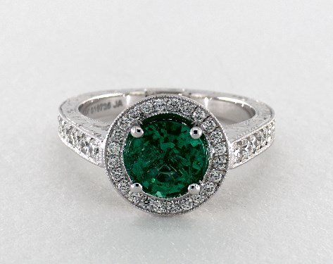 emerald engagement rings 14k white gold vintage setting rfpzzmh