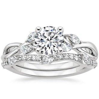 engagement ring sets 18k white gold. willow diamond ... uyenddq