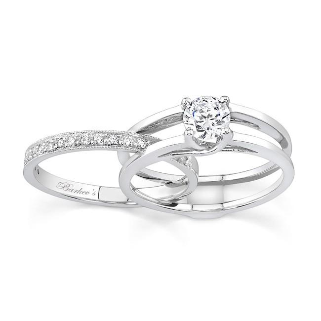 engagement ring sets white gold diamond engagement ring set - 7145s cuwdgql