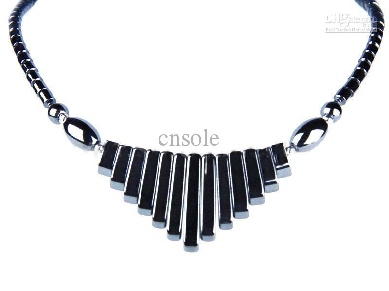 environmental healthy magnetic hematite jewelry charm necklace, 36 pcs/lot,  free shipping obolbeh