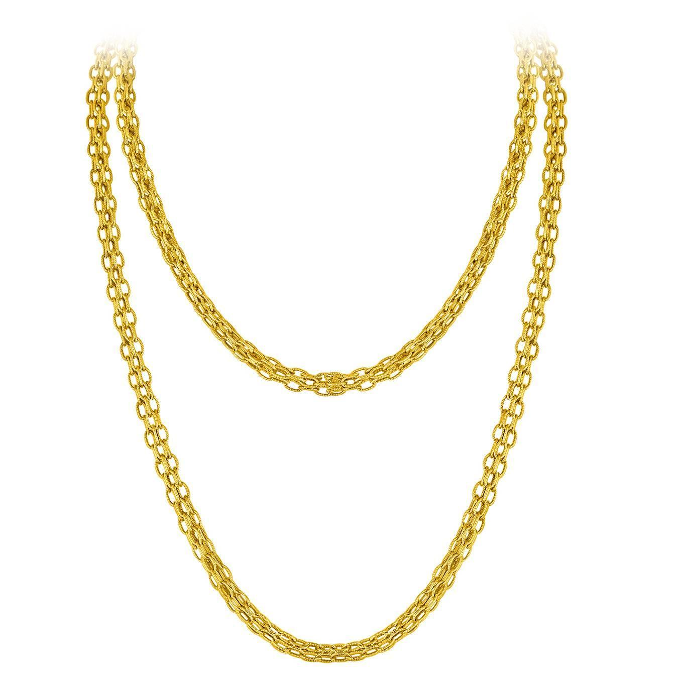 estate gold chain necklace c.1960u0027s for sale at 1stdibs ubrkqmz