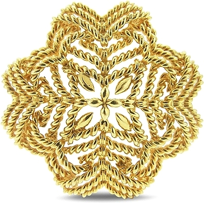 estate tiffany 18k yellow gold brooch 431-00035 wnxoiut