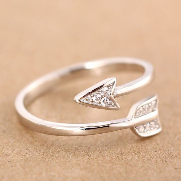 fashion rings 925 sterling silver cupid arrow couple opening ring only $15.99 quzoprr