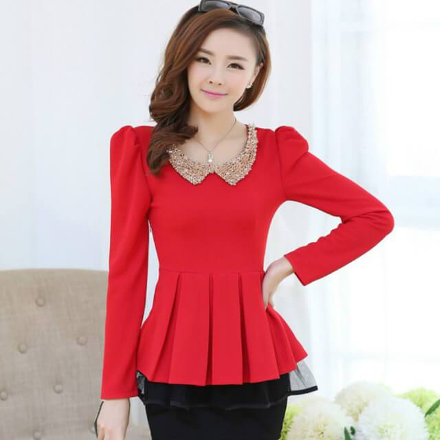 fashionable tops peplum tops mjpudbx