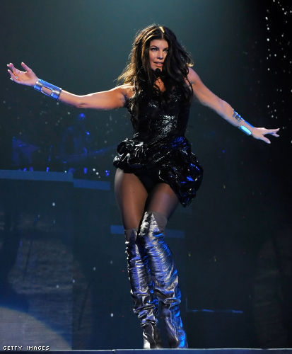 fergie boots fergie sang for the black eyed peas post-holiday at las vegasu0027 mandalay bay  events puhwlgv