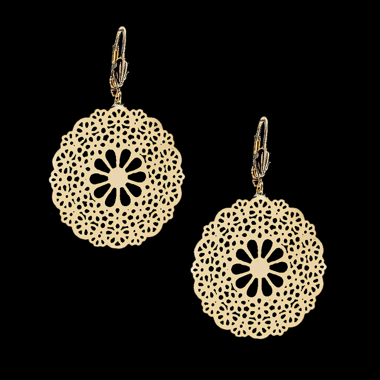 filigree earrings 18kt gold layered filigree fashion earrings - new filigree light weight oro  laminado 18k wmttuwy