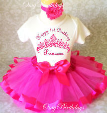 first birthday outfits girl princess crown hot pink baby girl 1st first birthday tutu outfit shirt set xcktefa