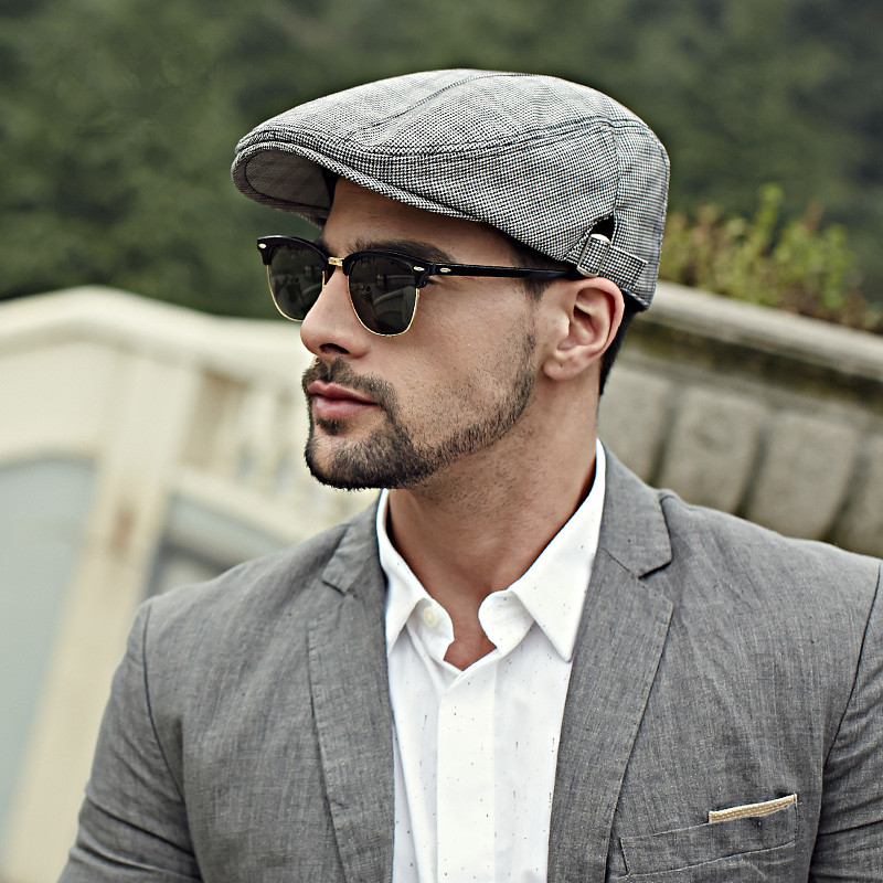flat caps for men houndstooth flat cap for men british style kxuezjq
