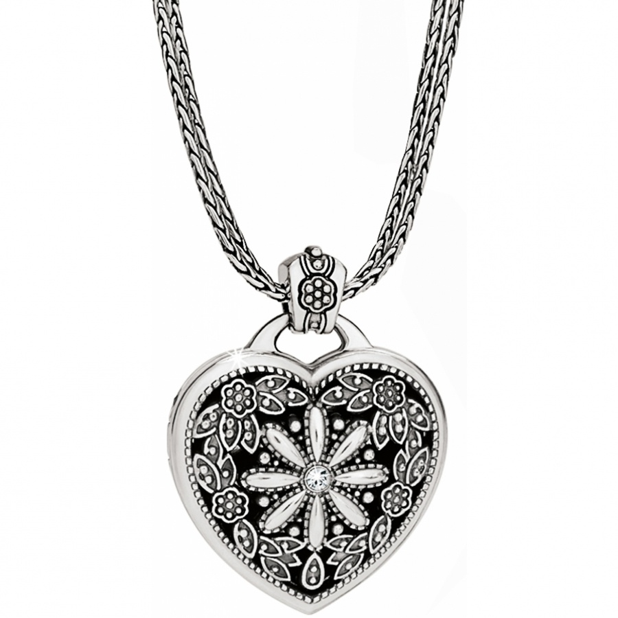 floral heart locket necklace yieqkht