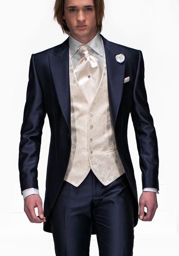 folobe custom made men navy slim fits suits tuxedos grooms suits long  wedding suits ykzgxyy