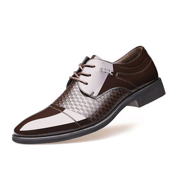 formal shoes for men men splicing pointed toe breathable business casual formal shoes yclfejt