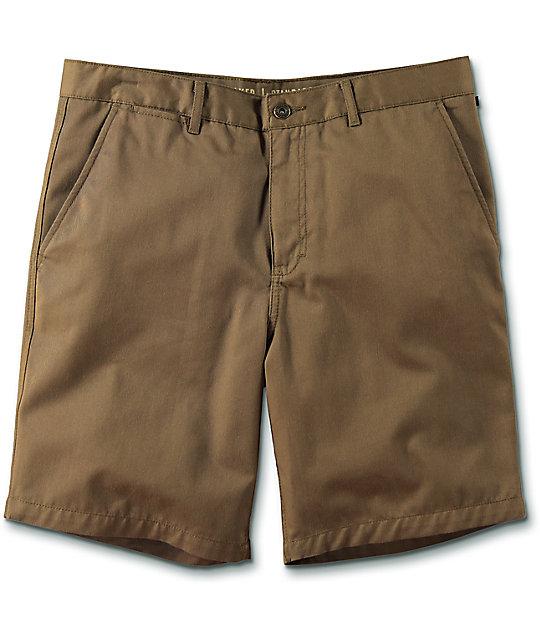 free world walker dark khaki chino shorts fxcbnei