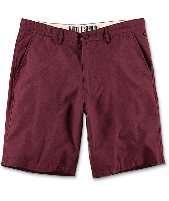 free world walker heather burgundy chino shorts wmbchzf