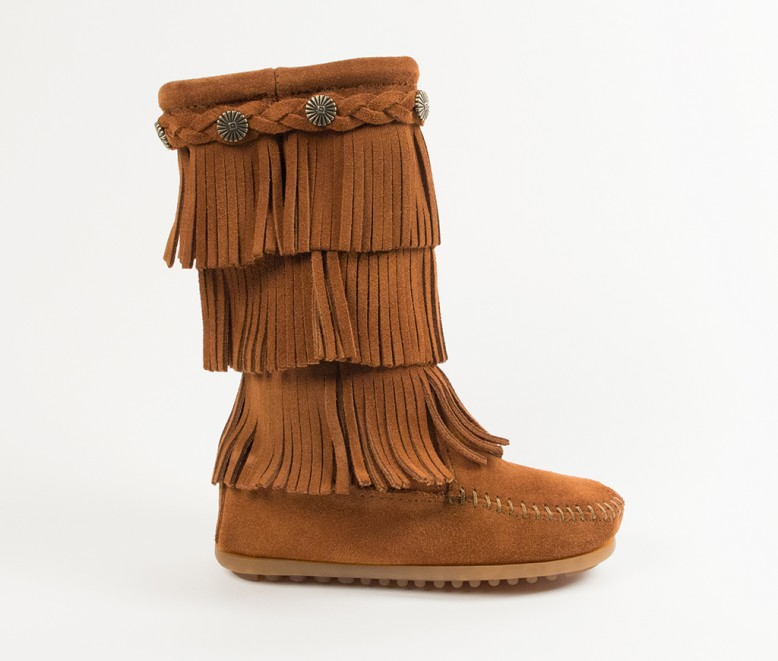 fringe boots 3-layer fringe boot (child) | 2652 | brown | 7 naxteqp
