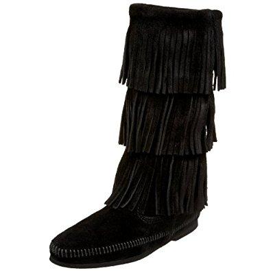 fringe boots minnetonka womenu0027s 3-layer fringe boot mjpoemj