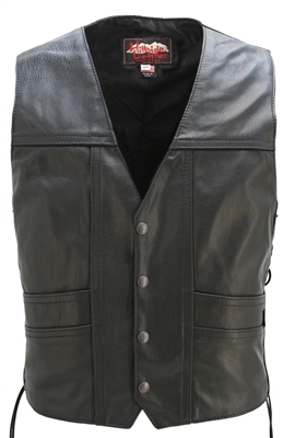 full back cruiser motorcycle leather vest with gun pockets zbebjaw