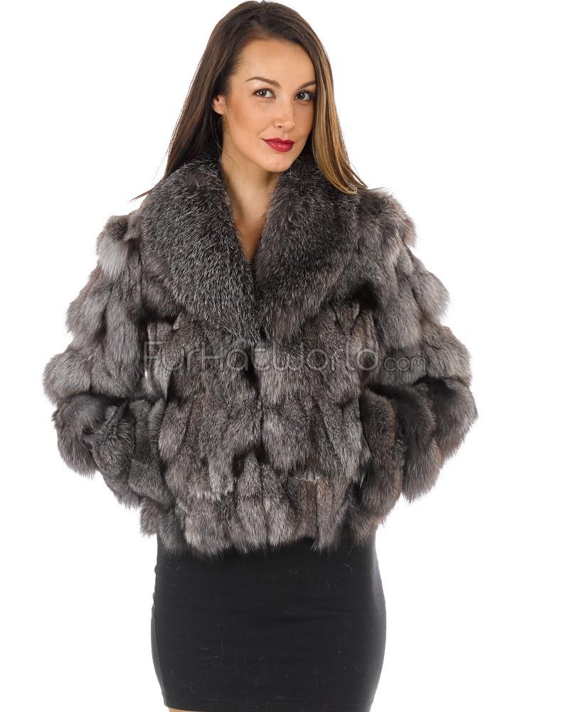 fur coats the nina silver fox fur sporty bomber special vfozydh