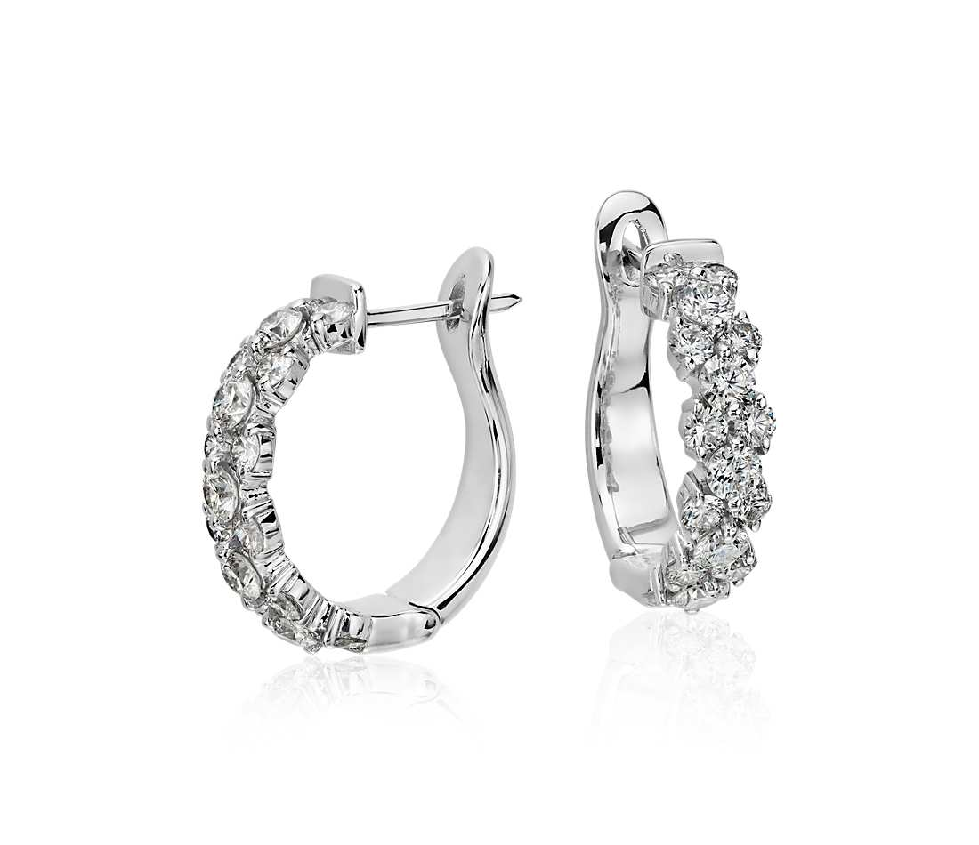 garland hoop diamond earrings in 18k white gold (2 ct. tw.) rwfirre