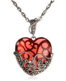 garnet jewelry, pretty heart! mfstmex