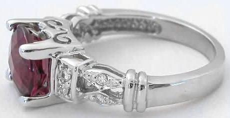 garnet rings checkerboard faceted rhodolite garnet rings in 14k white gold vwwyolv