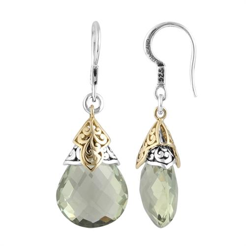 gemstone earrings 18k u0026 sterling silver, green amy gemstone earring ybixgdd