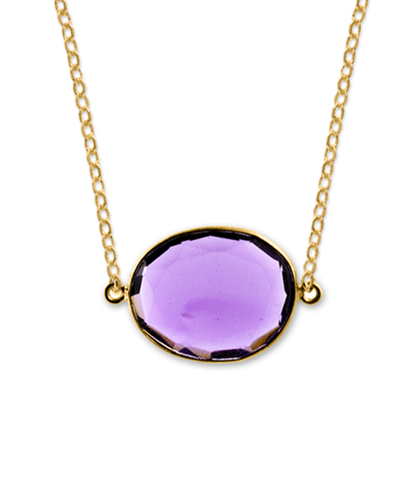 gemstone necklaces amethyst gold bezel necklace lqpzrrh