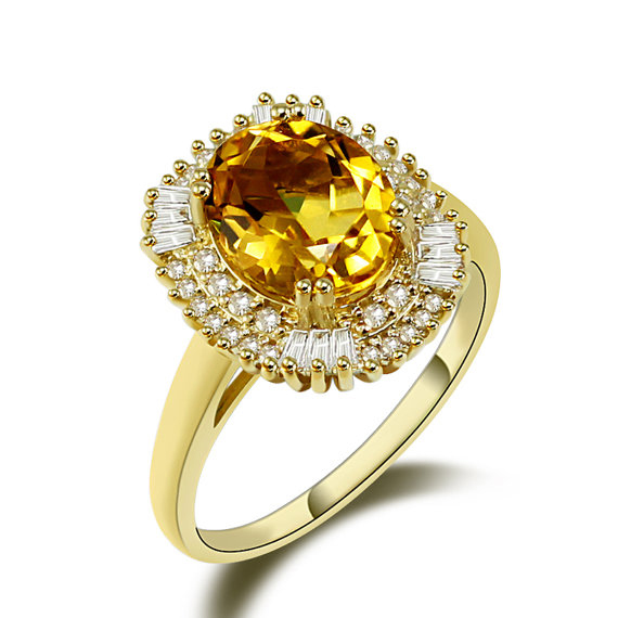 gemstone rings 3.87 ct oval yellow citrine gemstone ring with 0.80 ct diamonds erhgcsi