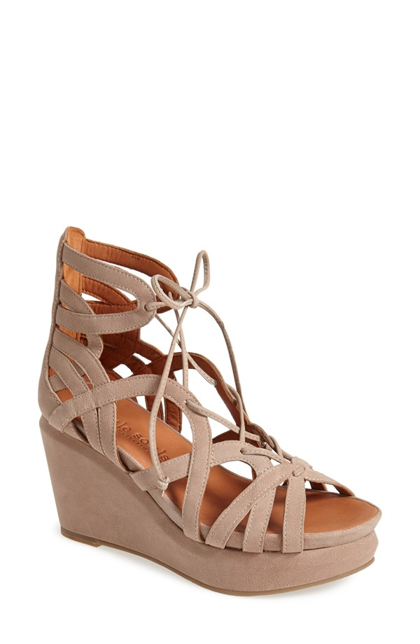 gentle souls shoes gentle souls u0027joyu0027 lace up nubuck sandal (women) | nordstrom pblubqv