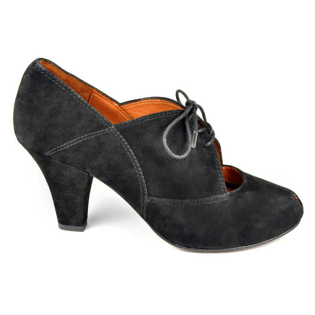 gentle souls shoes gentle souls womenu0027s rem side pumps in black kid suede leohurc