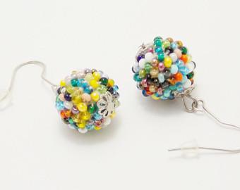 gift/for/women gifts/for/mom ball earrings unique earrings beaded earrings mhqkgps