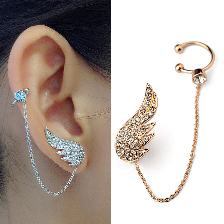 girls jewelry aliexpress.com : buy 2015 new arrival angle wing crystal stud earrings for  women girls lqwxofp