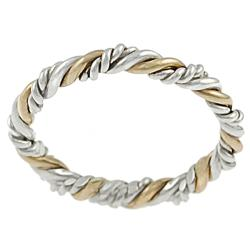 gold and silver rings journee collection goldfill and sterling silver twist ring vnfwonb