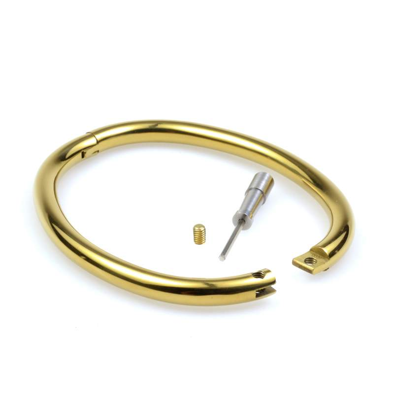 gold anklet locking anklet in gold finish with allen key ztlaoqh