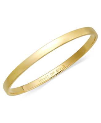 gold bangle bracelet kate spade new york bracelet, 12k gold-plated heart of gold idiom bangle  bracelet ioynnzw