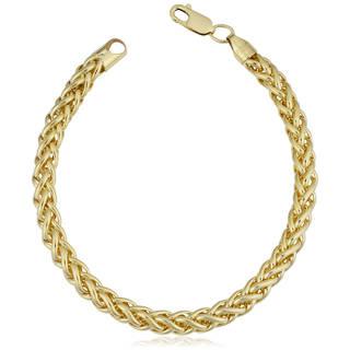 gold bracelets fremada 14k yellow gold filled 6-mm bold franco link chain bracelet (7.5 or oymgsxu
