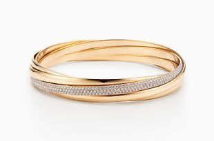 gold bracelets new palomau0027s melody five-band bangle in 18k gold with diamonds, medium. zokeyfn
