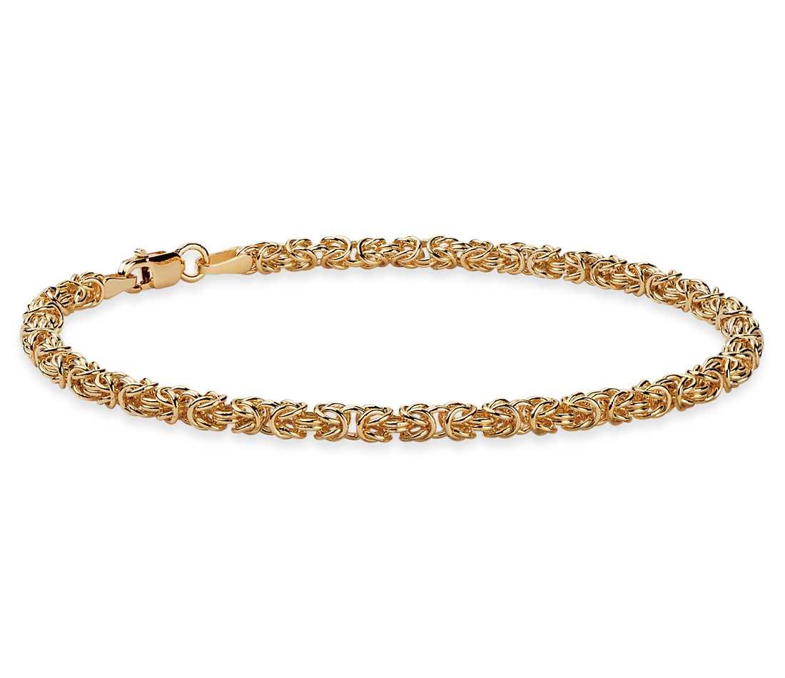 gold bracelets petite byzantine bracelet in 14k yellow gold fkcqnhf