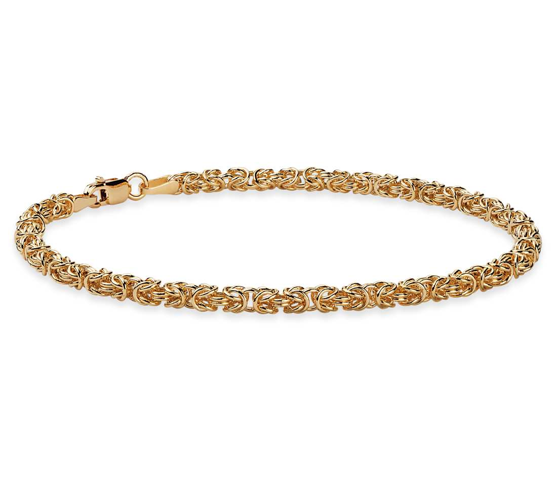 gold bracelets petite byzantine bracelet in 14k yellow gold rkocfuu