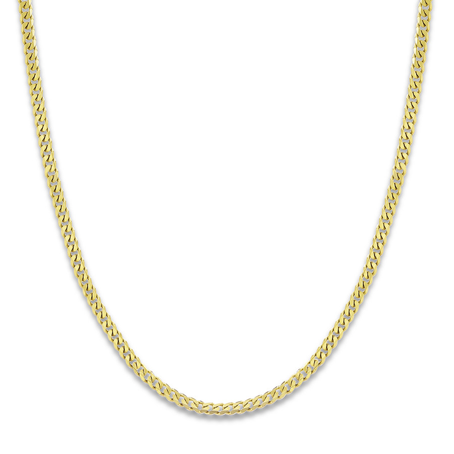 gold chain necklace menu0027s curb chain necklace 14k yellow gold 24 nguevdn