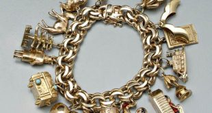 gold charms for bracelets 1219: tiffany gold charm bracelet, : lot 1219 bkboqsz