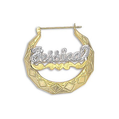 gold custom name earrings with wave srxvshl