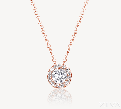 gold diamond necklace diamond necklace with halo in rose gold mohoqqr