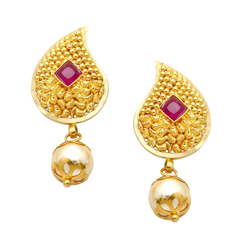 gold earrings affluent gold earring mbrupja