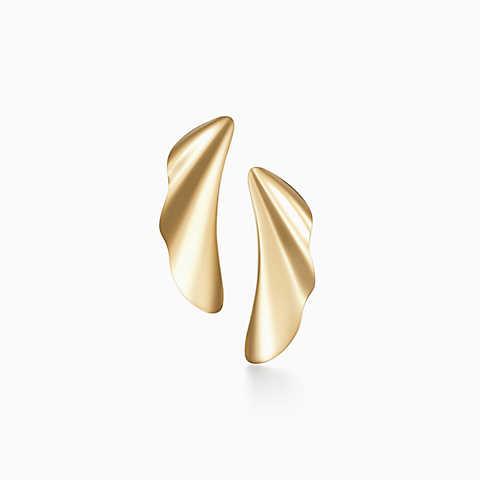 gold earrings new elsa peretti® high tide earrings in 18k gold. ltqewir