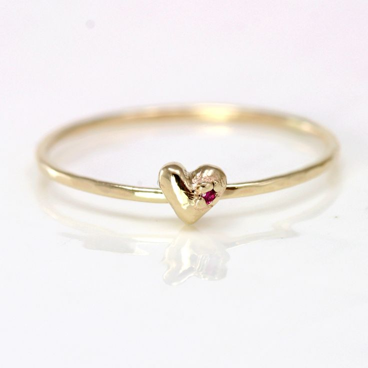 gold heart ring find this pin and more on rings. ruby heart ring gold ... jdjjeht