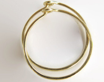 gold hoop earrings, handmade earrings, modern earrings, classic errings,  gold jewelry, picxxum