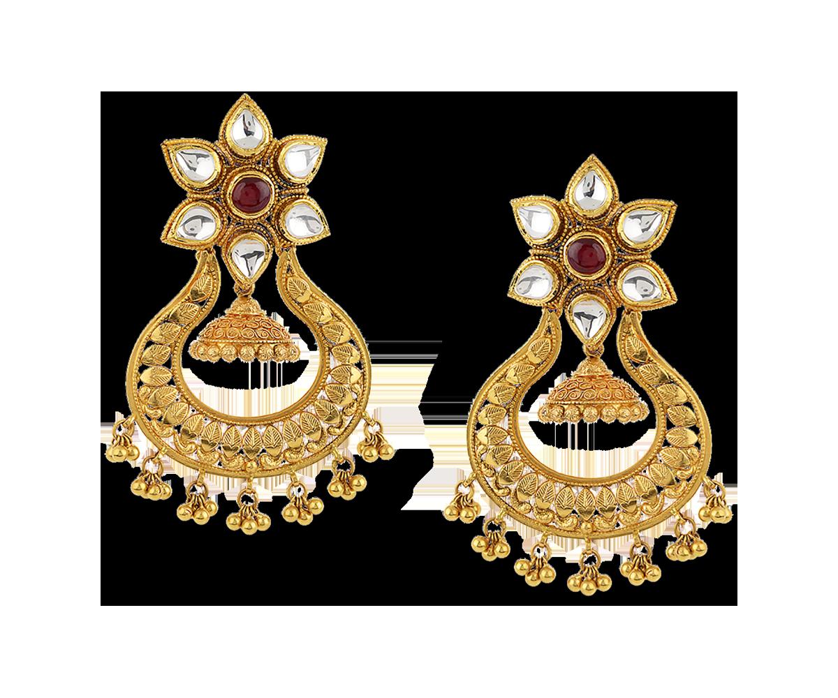 gold jewellery antara chandbali gold earring tmloqxu