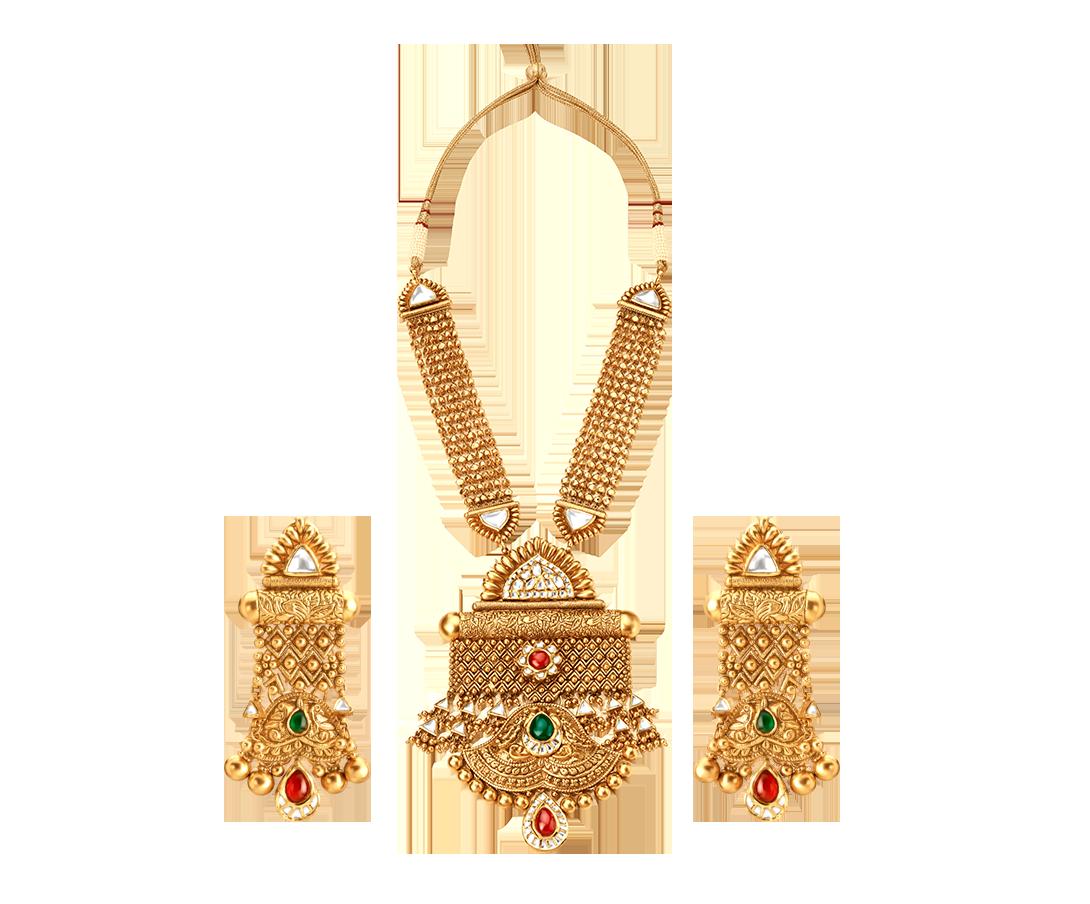 gold jewellery necklaceglass kundan veptmon