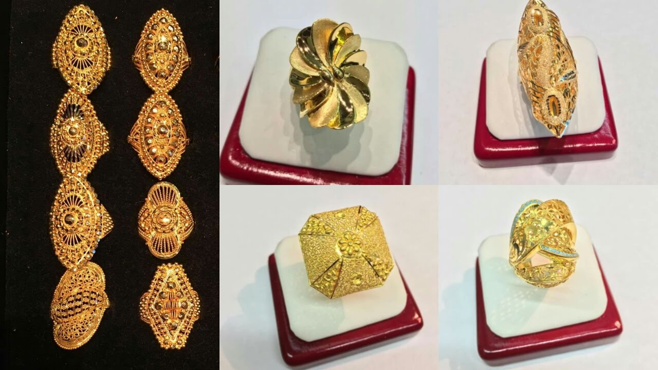 gold ring design gold ring designs for women || ring collection 2017 sqgjees